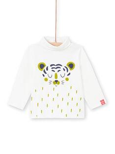 Camisola interior de mangas compridas amarela com padrão coelho bebé menino MUJOSOUP4 / 21WG10N4SPL117