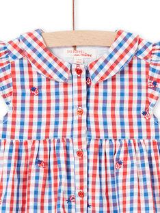 Vestido camisa aos quadrados bebé menina LICANROB3 / 21SG09M3ROB001