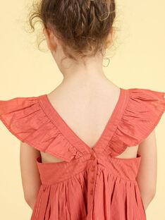 Vestido às riscas Lurex® e bordados floridos menina LATEROB3 / 21S901V1ROBE415