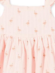 Vestido rosa estampado flamingos com purpurinas LATEROB2 / 21S901V4ROBD322