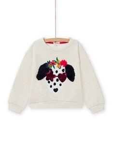 Sweat-shirt cru padrão cão decorativo menina MAMIXSWEA / 21W901J1SWE006