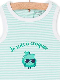 Body branco e verde bebé menino LEGABODPOM / 21SH14G6BDL000