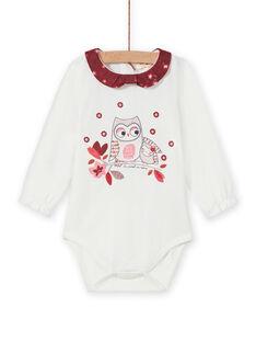 Body mangas compridas padrão decorativo bebé menina MIFUNBOD / 21WG09M1BOD001