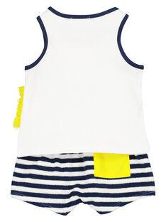 Conjunto camisola de alças e calções bebé menino FUPLAENS2 / 19SG10P2ENS000