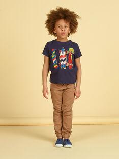 T-shirt preta e vermelha - Criança menino LOPOETI2 / 21S902Y1TMCJ900