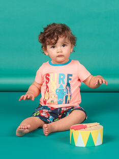T-shirt de mangas curtas pêssego bebé menino LUBONTI3 / 21SG10W2TMCD311