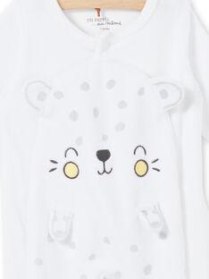 Babygro leopardo branco em veludo nascimento unissexo LOU1GRE5 / 21SF05H2GRE000
