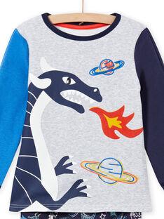 Conjunto de pijama com estampado de dragão fosforescente menino MEGOPYJGON / 21WH1295PYJJ922