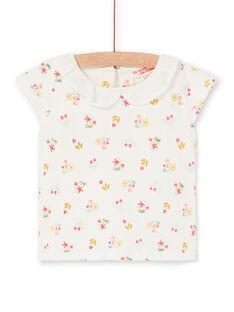 T-shirt cru e rosa estampado florido bebé menina LIVERBRA / 21SG09Q1BRA001
