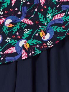 Vestido preto e verde com estampado tucanos LANAUROB1 / 21S901P2ROBC205