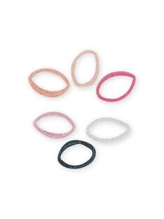 Pack de 6 elásticos a condizer menina MYAJOELA6 / 21WI01S1ELAK008