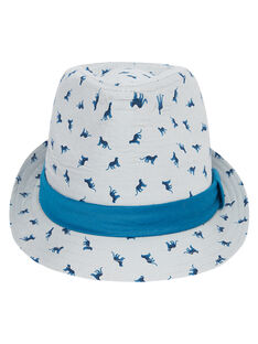 Chapéu criança menino com padrão + padrão à volta do chapéu JYOJACHAP1 / 20SI02B1CHAJ917