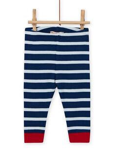Conjunto T-shirt com padrão de ovelha e leggings às riscas bebé menino MUMIXENS / 21WG10J1ENS505