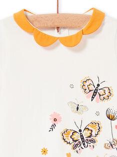 T-shirt cru e amarela bebé menina LIPOEBRA / 21SG09Y1BRA001