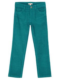 Calças em Veludo Azul pato Regular GOJOPAVEL5 / 19W902L2D2BG617
