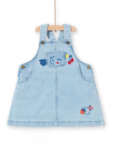 Vestido-jardineiras em ganga bebé menina LICANROB1 / 21SG09M1ROBP272