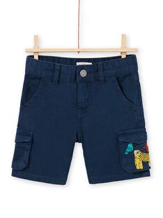 Bermudas azul-marinho criança menino LOVIBER4 / 21S902U4BERC204