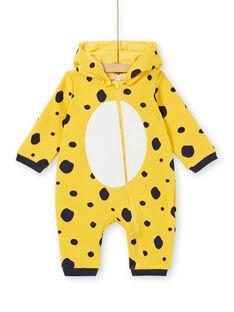 Pijama menina em moletão acolchoado padrão leopardo LEFUCOMLEO / 21SH1411SPY106