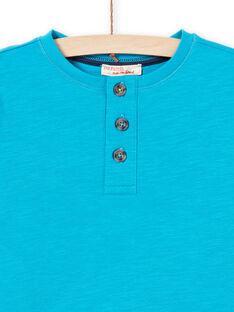 T-shirt turquesa menino MOJOTUN3 / 21W90211TMLC211