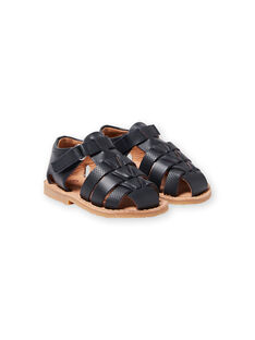Sandálias azul-marinho bebé menino LBGSANDENZO / 21KK3859D0E070