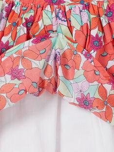 Saia verde e laranja estampado florido LAVIJUP1 / 21S901U2JUP000