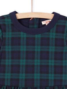 Vestido verde e azul-marinho menina MAJOROB3 / 21W90121ROBC243