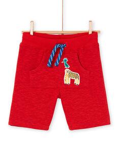 Bermudas vermelho mesclado criança menino LOVIBER2 / 21S902U2BERF520