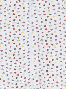 Babygro branco e vermelho às bolas LOU1GRE7 / 21SF05H5GRE000