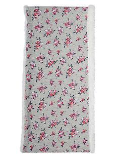 Snood menina cinzento com padrão flor e interior sherpa JYAVISNOO / 20SI01D1SNO943