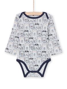 Body cinzento mesclado e azul-marinho bebé menino MEGABODAMI / 21WH14B5BDLJ920