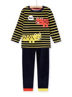Conjunto de pijama com padrão de animais em veludo menino MEGOPYJRAY / 21WH1291PYJ705