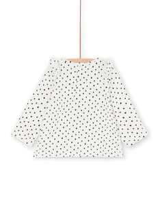 T-shirt branca e azul-marinho às bolas bebé menina LIPOETEE1 / 21SG09Y2TML001