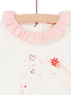 Body cru e rosa bebé menina LICANBOD / 21SG09M1BOD001