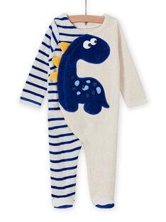 Babygro cru mesclado com padrão de dinossauro bebé menino MEGAGRENOS / 21WH1485GRE006