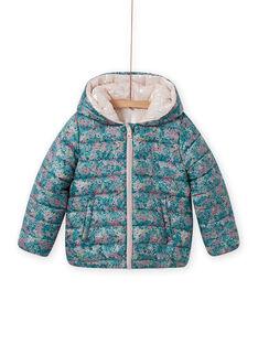 Blusão reversível com capuz e estampado florido menina MAKADOUNE / 21W90152D3E612
