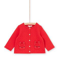 Casaco de malha vermelho bebé menina LIHACAR / 21SG09X1CAR505