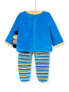 Pijama recém-nascido menino em veludo animação leão e girafa LEFUPYJAMI / 21SH1411PYJC209