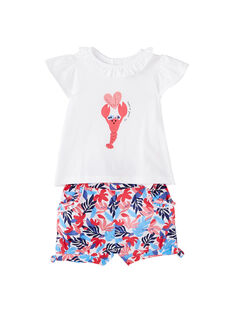 Conjunto calções e t-shirt bebé menina JICEAENS / 20SG09N3ENS000