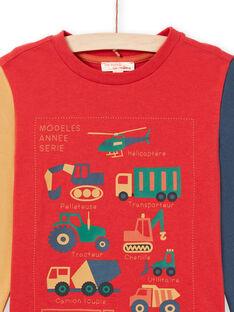 T-shirt vermelha e laranja menino MOCOTEE4 / 21W902L3TMLF521