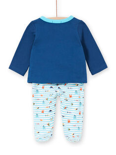Pijama recém-nascido menino em moletão polvo LEGAPYJPIE / 21SH1451PYJC230