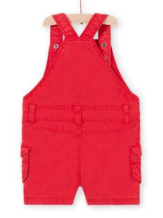 Jardineiras curtas vermelhas bebé menino LUCANSAC / 21SG10M1SACF505