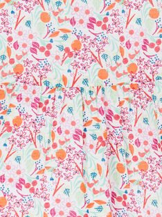 Blusa rosa e laranja estampado florido bebé menina LIVICHEM / 21SG09U1BLU000