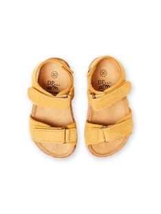 Sandálias lisas amarelo bebé menino LBGNUJAUNE / 21KK3852D0E010