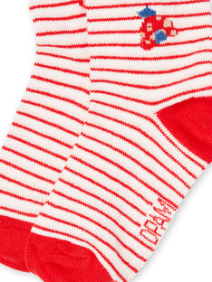 Meias cru e vermelhas bebé menina LYICANSOQ / 21SI09M1SOQ001