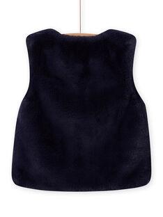 Casaco sem mangas reversível de pelo sintético azul noite menina MAPLACAR1 / 21W901O2CARC202