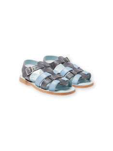 Sandálias cinzentas e azul-celeste menino LGSANDADAM / 21KK3652D0E940
