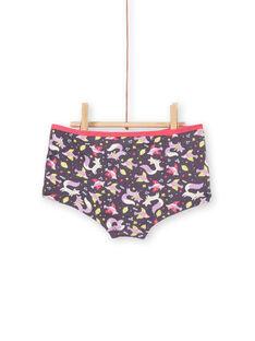 Lote de 3 shorties rosa, violeta e branco criança menina LEFAHOT6 / 21SH1126SHYJ916