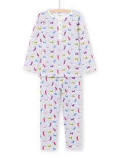 Pijama às bolas e estampado leopardo menina MEFAPYJPAN / 21WH1134PYJ001