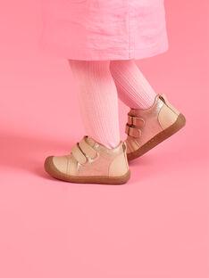 Botinhas rosa claro em couro bebé menina MIBOTIFLEXFI / 21XK3751D0F030