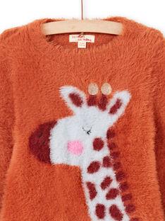 Camisola de mangas compridas caramelo com padrão de girafa menina MACOMPULL / 21W901L1PUL420